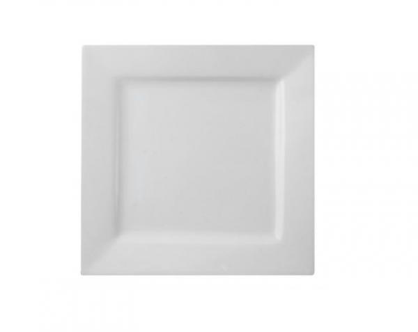 """Dinner Plate 10"""" Square Plain White (packs of 10)"""