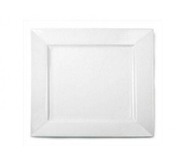 """Dinner Plate 12"""" Square Plain White (packs of 10)"""