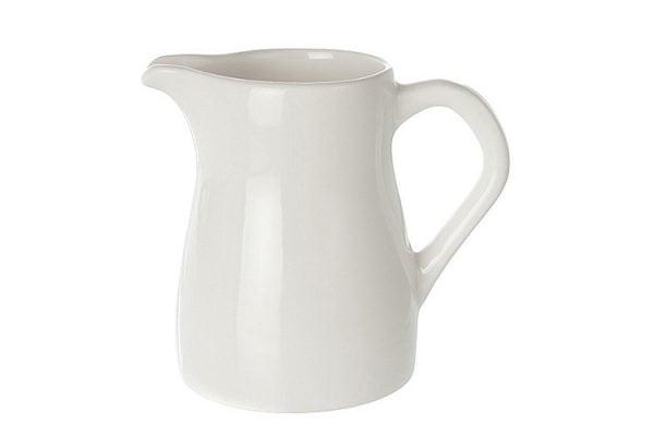 Milk Jug 21oz Plain White