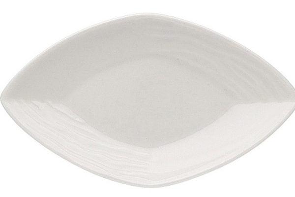 "China Dish 14"" Diamond Shaped Plain White"