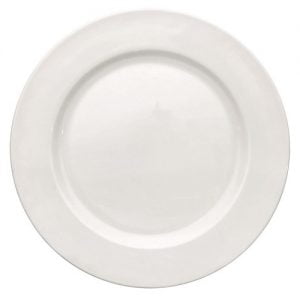 "Buffet Plate 9"" Plain White (packs of 10)"