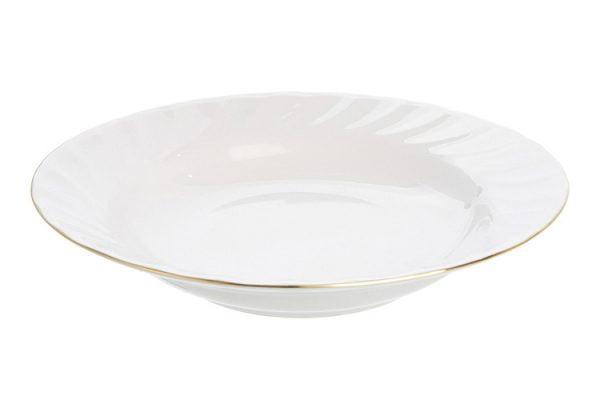 """Soup/Pasta Bowl Rimmed 9"""" Gold Line (packs of 10)"""
