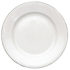 "Dinner Plate 9.5"" Silver Line (packs of 10)"