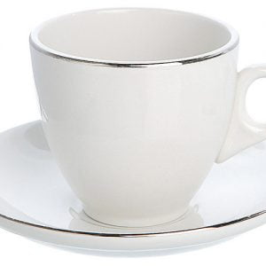 Tea/Coffee Saucer Silver Line (packs of 10)