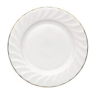 """Dessert/Starter Plate 7.5"""" Gold Line (packs of 10)"""