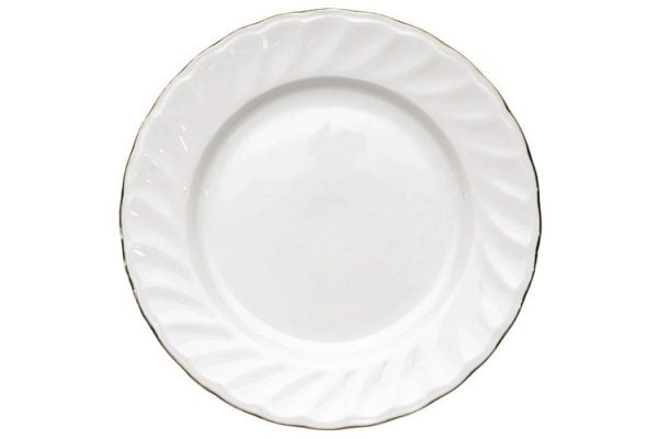 """Side Plate 6.5"""" Gold Line (packs of 10)"""