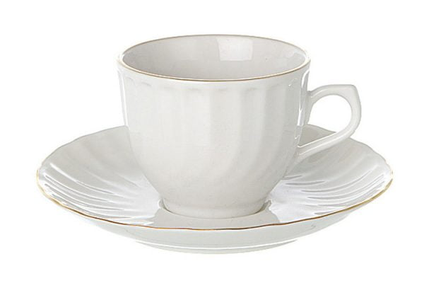 Coffee Saucer Espresso Gold Line (packs of 10)
