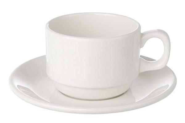 Tea/Coffee Cup Plain White (packs of 10)