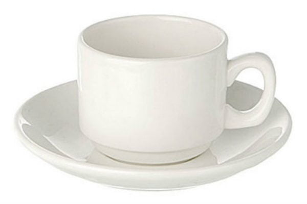 Coffee Cup Espresso Plain White (packs of 10)