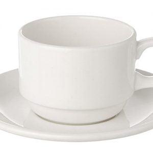 Coffee Saucer Espresso Plain White (packs of 10)