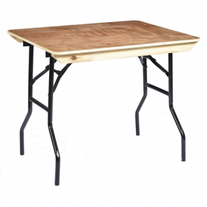 "Trestle Table 3' x 2' 6"" Wooden Top"