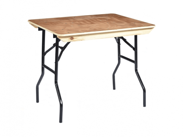 """Trestle Table 3' x 2' 6"""" Wooden Top"""