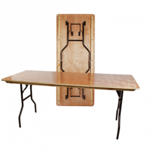 "Trestle Table 6' x 2' 6"" Wooden Top"