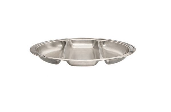"""Oval Banqueting Dish 20"""" 3 Section"""