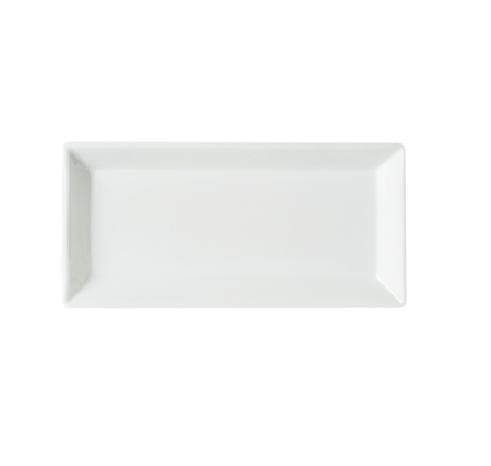 """Dessert/Side Plate 9"""" Rectangular Plain White (packs of 10)"""