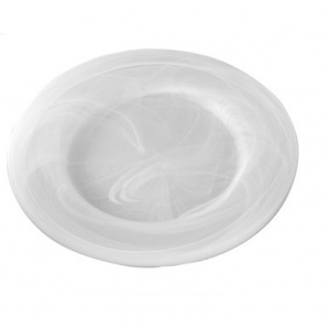 Charger Plate Frosted Marbled Glass 12.5""