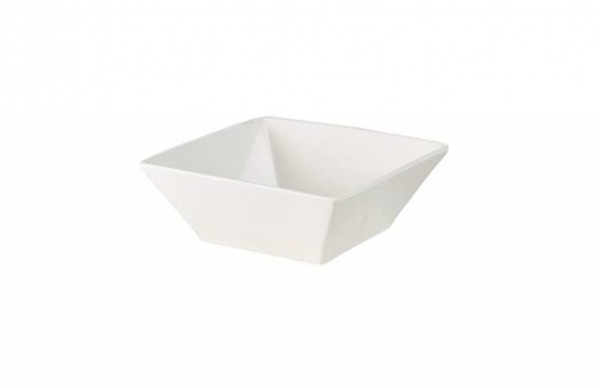 "Dessert Bowl 6"" Square Plain White (packs of 10)"